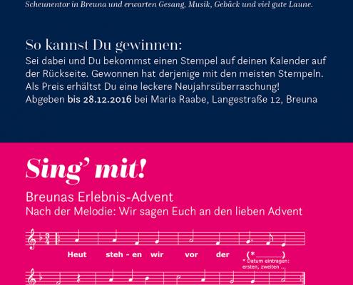 Breunas Erlebnisadvent - Das Lied